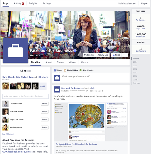 Facebook business page design selol ink facebook business page design friedricerecipe Choice Image