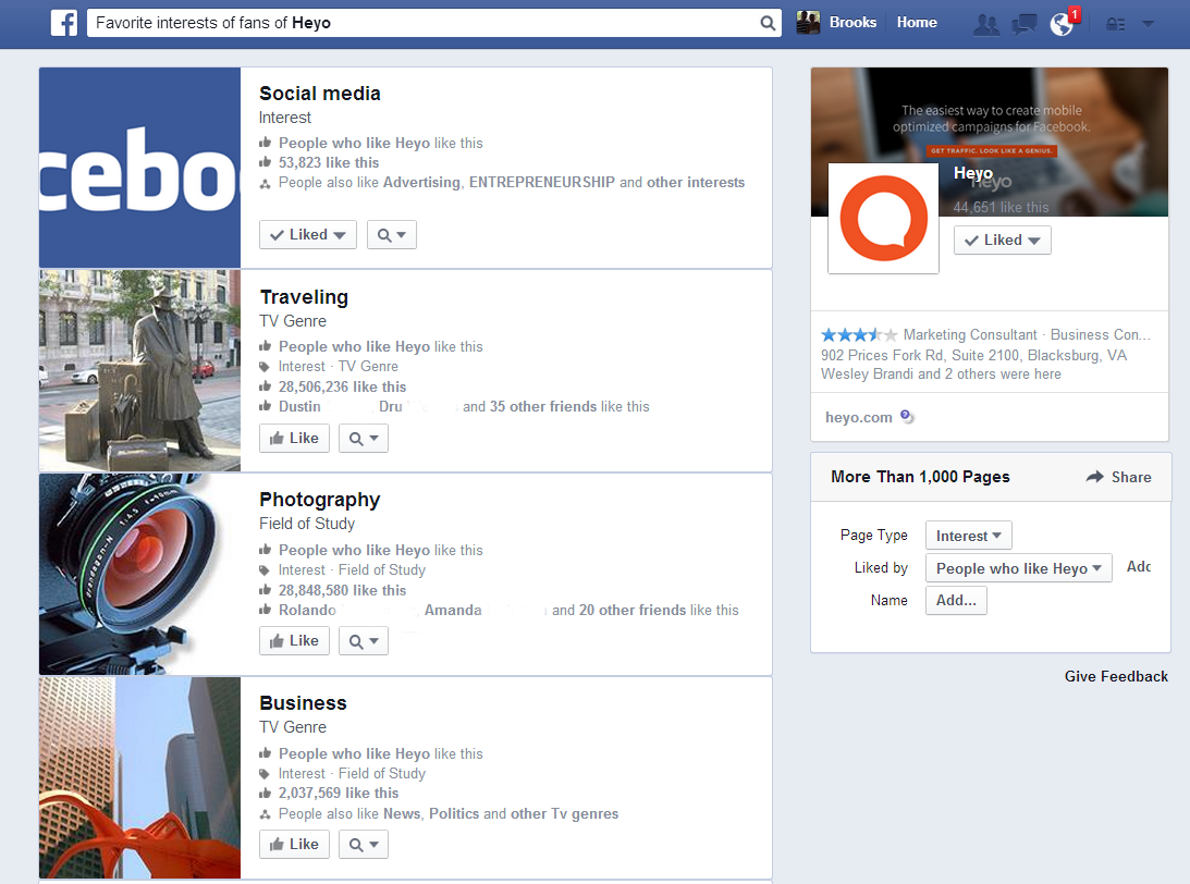 Facebook Graph Search Heyo