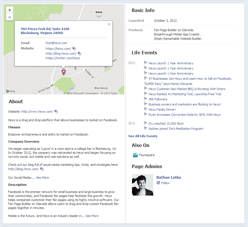 Facebook Graph Search Heyo About