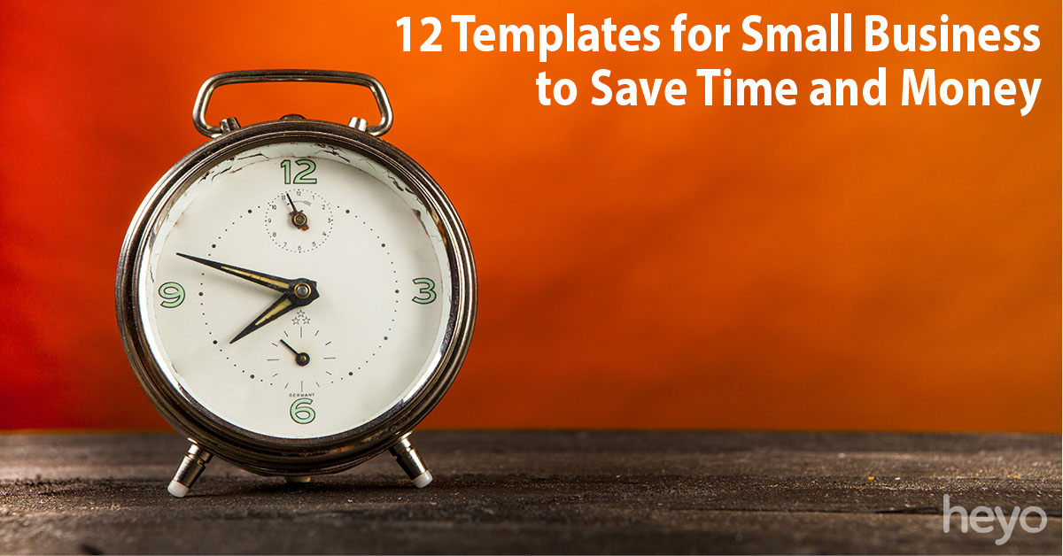 12 templates for small business to save time and money for Time for business