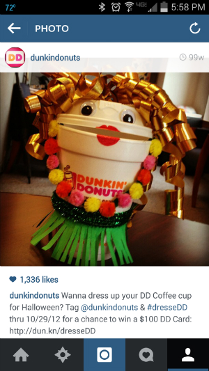 instagram contest, dunkin donuts