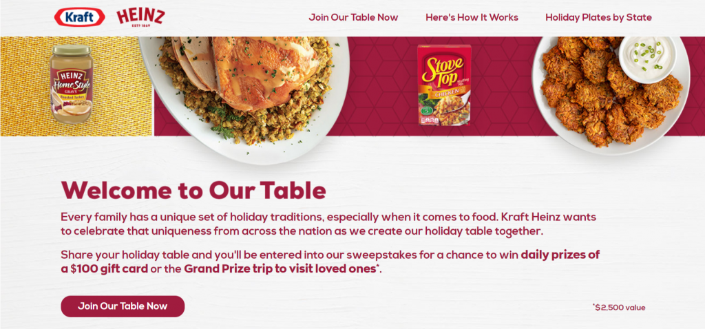 Kraft-Heinz-Table-Sweepstakes